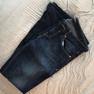 Express Dark Wash Skinny Jeans (8R)